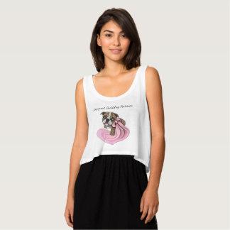 Débardeur Chemises roses de charité d'échantillon de chiot