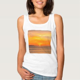 Débardeur Côte de coucher du soleil avec Sun orange et