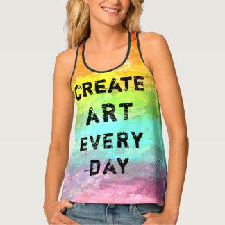 Débardeur Créez l'art chaque jour Painterly
