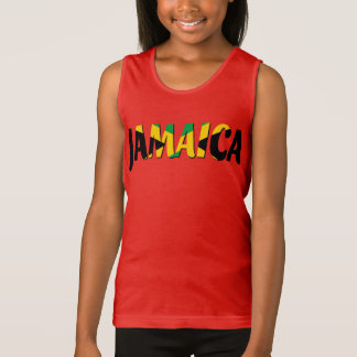 Débardeur des textes de drapeau de la Jamaïque