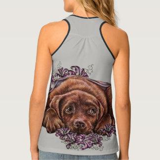 Débardeur Dessin de chien de Brown Labrador et de chemise de