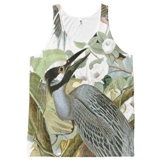 Débardeur floral d'animal de faune d'oiseau de