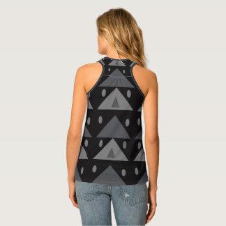 Débardeur géométrique gris noir de motif