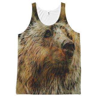 Débardeur imprimé d'ours partout