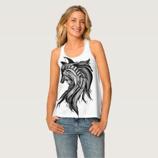 Débardeur Loup magique, noir et blanc