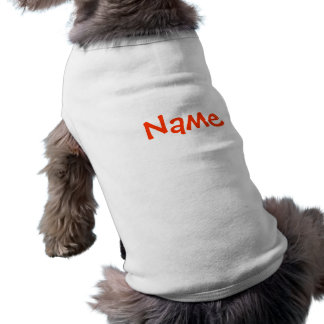 Débardeur nommé d'habillement de chien de ~ de do-