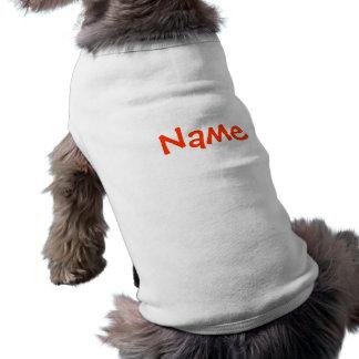 Débardeur nommé d'habillement de chien de ~ de tee-shirt pour toutou