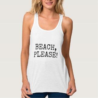 Débardeur Plage svp, thème pour la plage d'été de police
