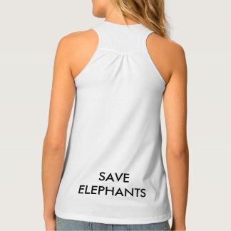 Débardeur SAUVEZ le réservoir d'éléphants