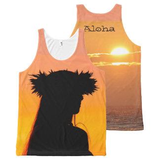 Débardeur Tout-imprimé Aloha danse polynésienne