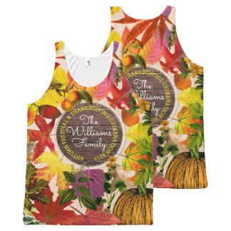 Débardeur Tout-imprimé Bois de cru de collage de feuille d'automne