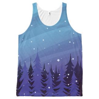 Débardeur Tout-imprimé Chemise d'arbre d'hiver