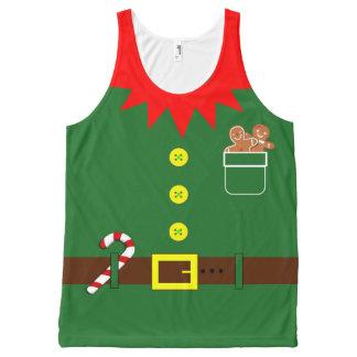 Débardeur Tout-imprimé Chemise d'Elf de Noël - copie de vacances partout