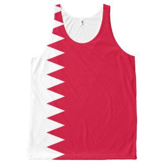 Débardeur Tout-imprimé Drapeau du Bahrain