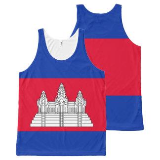 Débardeur Tout-imprimé Drapeau du Cambodge