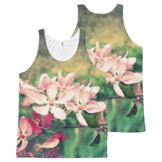 Débardeur Tout-imprimé Fleurs de cerisier roses, ressort, copie partout