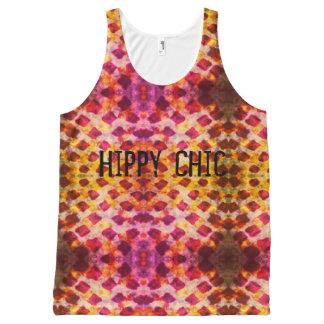 Débardeur Tout-imprimé Hippie grunge chic