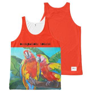 Débardeur Tout-imprimé i art et conceptions, réservoir tropical d'orange