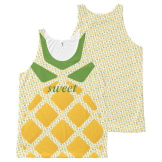 Débardeur Tout-imprimé Motif d'ananas