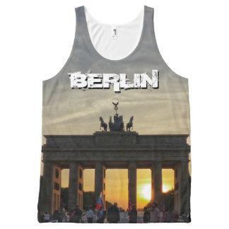 Débardeur Tout-imprimé Porte de Brandebourg, Coucher du soleil, BERLIN