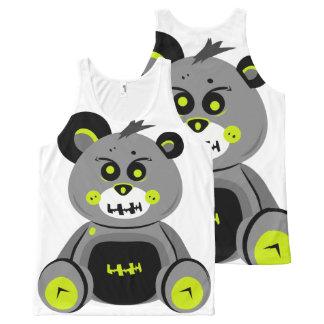 Débardeur Tout-imprimé Réservoir fâché d'ours de Halloween G