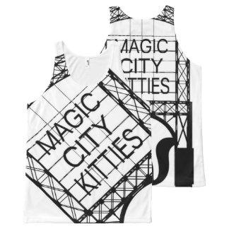 Débardeur Tout-imprimé Réservoir magique de minous de ville partout