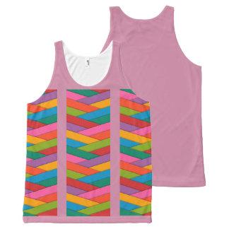 Débardeur Tout-imprimé Réservoir multicolore de rayures pour des femmes