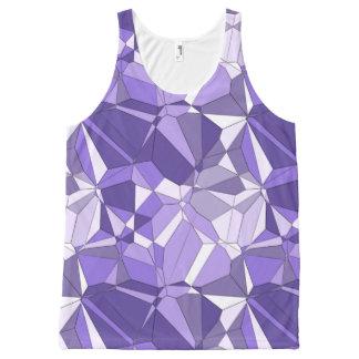 Débardeur Tout-imprimé Réservoir ultra-violet d'impression de motif de