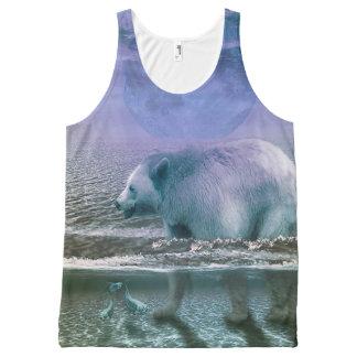 Débardeur Tout-imprimé Réservoir unisexe imprimé d'ours de l'eau partout