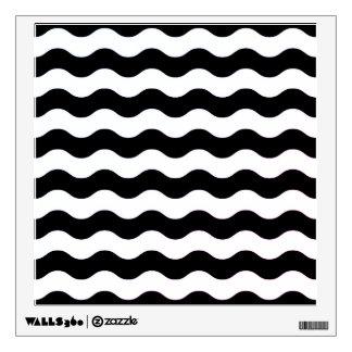 Décalque de mur : Noir et blanc contemporain