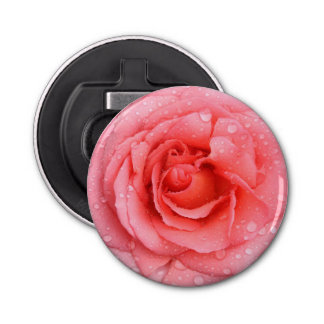 Décapsuleur Baisses roses rouges romantiques de l'eau rose