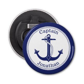 Décapsuleur Capitaine nautique Personalized de bleu marine