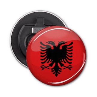 Décapsuleur Drapeau albanais rond brillant