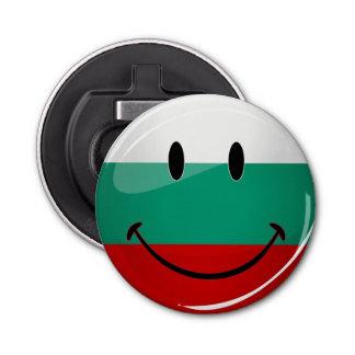 Décapsuleur Drapeau bulgare de sourire de rond brillant