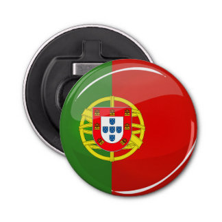 Décapsuleur Drapeau portugais rond brillant