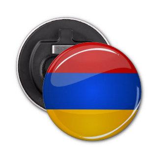 Décapsuleur Drapeau rond brillant de l'Arménie