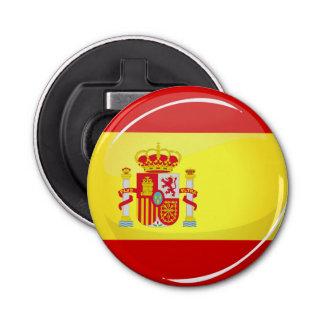 Décapsuleur Drapeau rond brillant de l'Espagne