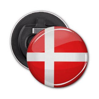 Décapsuleur Drapeau rond brillant du Danemark