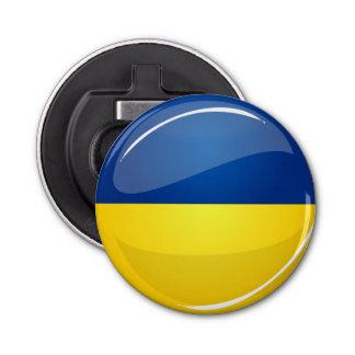 Décapsuleur Drapeau ukrainien rond brillant