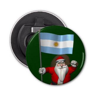 Décapsuleur Le père noël avec le drapeau de l'Argentine