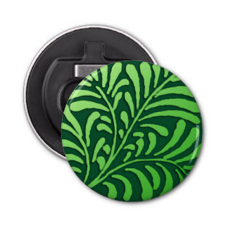 Décapsuleur Motif de fougère d'art déco - nuances de vert