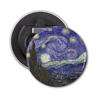 Décapsuleur Nuit étoilée de Van Gogh, paysage vintage de