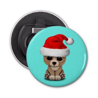 Décapsuleur Ours de bébé utilisant un casquette de Père Noël