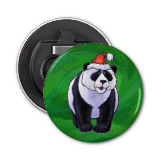 Décapsuleur Ours panda dans le casquette de Père Noël sur le
