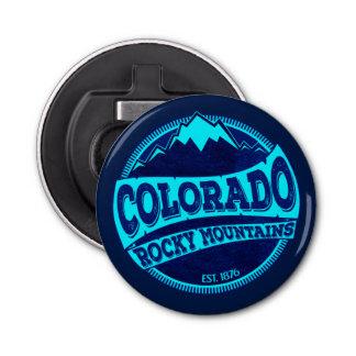 Décapsuleur Ouvreur de bouteille bleu turquoise de montagnes