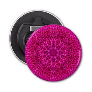 Décapsuleur Ouvreur de bouteille ronde magnétique rose de