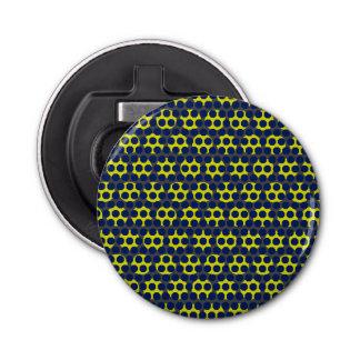 Décapsuleur Ouvreur rond de manie jaune bleue de point