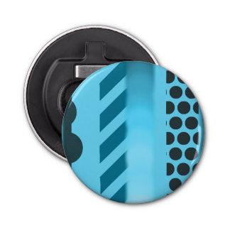 Décapsuleur Ouvreur rond de motif bleu