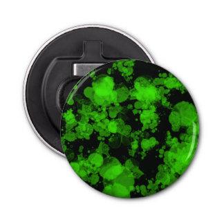 Décapsuleur Ouvreur rond d'éclaboussure verte au néon