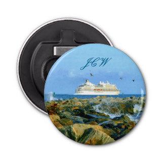 Décapsuleur Paysage marin avec le bateau de croisière décoré